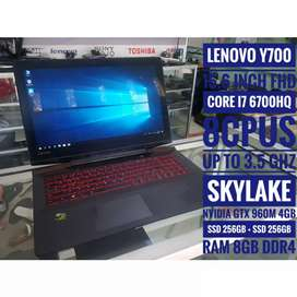 Laptop gaming core i7 skylake VGA GTX 960M 4GB Murah. Lenovo Y700