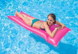 Intex Inflatable Glossy Float Swimming Mat/Mattress with A Pillow Top