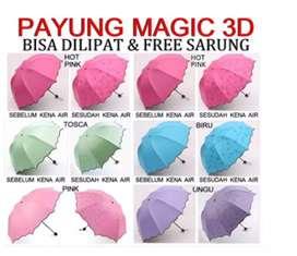 Payung lipat magic 3D ecer grosir murah ecer