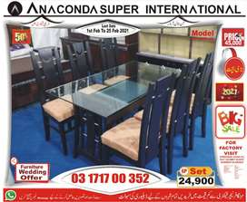 Dining tables glass top dining table set