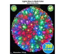 Ganpati LED Cherry Blossom Multi Color Web Ball Light