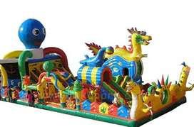 Kids play, inflatable bouncies
