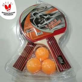 Bet Pingpong Isi 2 Raket Tenis Meja Cima Pingpong Bonus 3 Bola