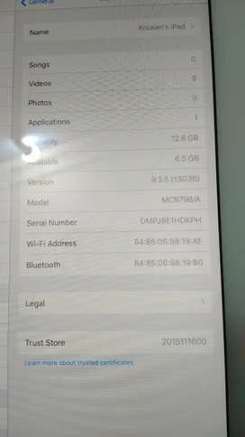 iPad 2 16 gb with cover and data cable