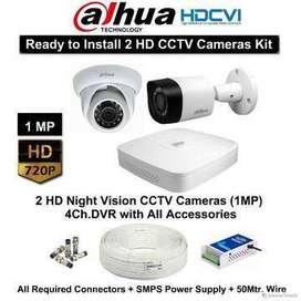 Brand New Dahua Cp plus Hikvison cctv 2,4,8 channel set up, Biometric