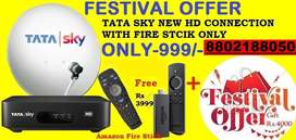 FESTIVAL#DHAMAKA#TATA SKY NEW HD CONNECTION WITH AMAZON STICK Rs.999