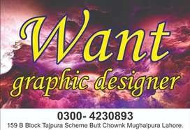 i want a graphic designer