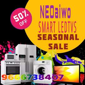NEOaiwo Tradamark brand Smart Ledtvs 3 years warranty
