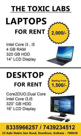 Laptop/Desktop for Rent