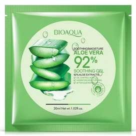 BIOAQUA SHEET MASK 92% ALOEVERA / MASKER .