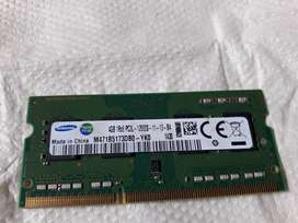 Samsung Original 4gb DDr3 1600Mhz Premium Ram for Laptop