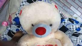 Big teddy bear cream colour