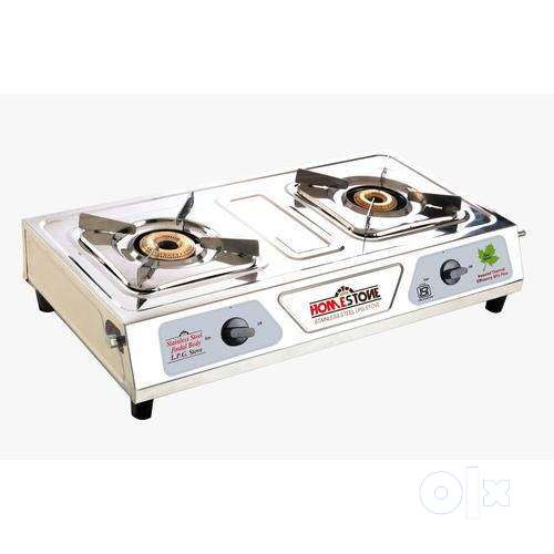 2 Burner Stainless Steel New Gas Stove 0