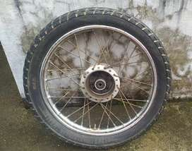 Hero honda rim & tyre (rear)