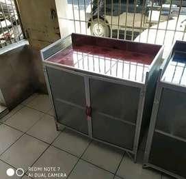 Meja kompor 2 pintu siap cod