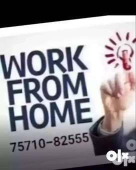 .Handful of income from home by part time work