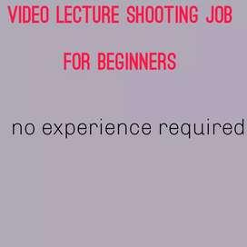 VIDEO SHOOTING JOB