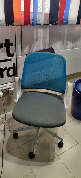 Ergonomic chair grey,white and blue, hometown