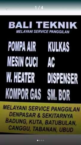 Service Pompa air, mesin cuci, kulkas, Ac, water heater, kompor gas