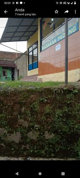Disewakan bangunan permanen pinggir jalan provinsi Pasirjambu
