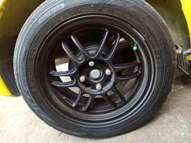 Velg Enkei rpf1 black R15 lebar 7 UK ban 195/ 55