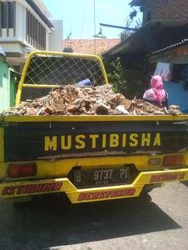 Jasa Angkut Brangkal, puing, tanah, berangkal, sampah prabotan, daun