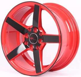 kredit velg depok NE3 JD265 HSR R16X7 H8X100-114,3 ET30 RED/BLACK FACE