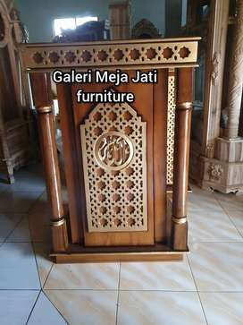 Mimbar masjid Kode E203 bahan kayu jati
