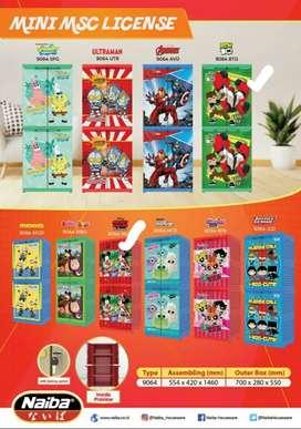 Lemari Plastik Naiba MNC Printing Mini Karakter
