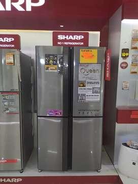 Kulkas Side by Side Sharp, bisa kredit tanpa Jaminan, 3 mnt cair