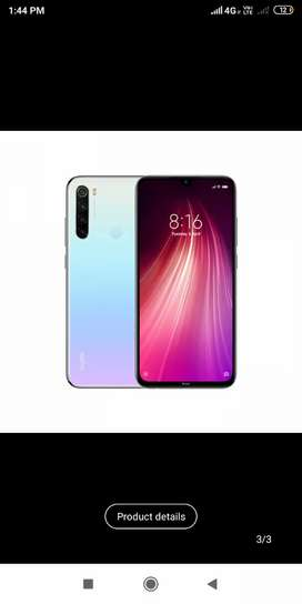 Redmi note 8 available 4/64 GB.