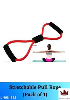 Liboni Red Resistance Tube with Foam Handles, Stretchable Pull Rope Ru