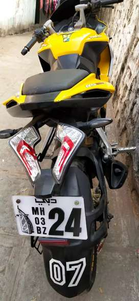 Rs 68kPulsar rs 200 vip no 24 2016 single owner les use new brand tyre