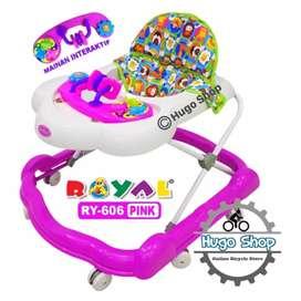 Alat Belajar Jalan Bayi - Baby Walker Royal RY 606 B