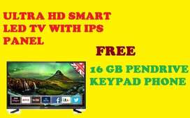 "55"" INCH SMART LED TV WITH FREE KEYPAD PHONE AND PENDRIVE"