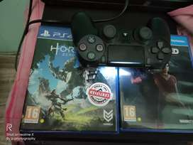 Brand new ps4 slim 6month use warrient avl with 2games
