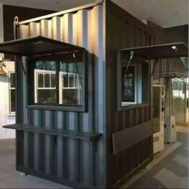 Paket usaha minuman kopi kekinian,booth Container,bsa di KREDIT 6BLN