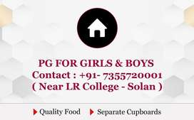 PG FOR GIRLS AND BOYS NEAR LR COLLEGE SOLAN