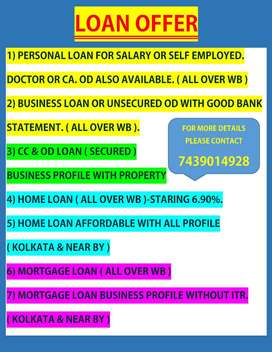 PERSONAL, BUSINESS, HOME, MORTGAGE, UNSECURED OD LOAN