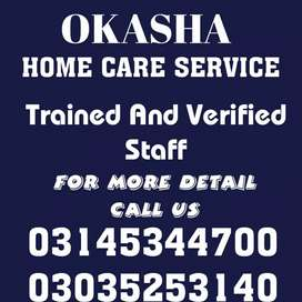 Trained Nurse, patient Care, Cook, Driver, trained Helper, Baby sitter