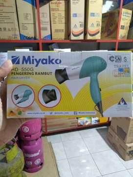 hair dryer hairdryer pengering rambut miyako lipat 550G (sinar kita)