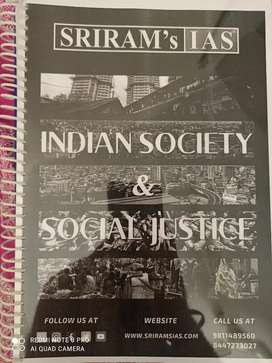 UPSC Civil services Indian Society and Social Justice by SRIRAM IAS