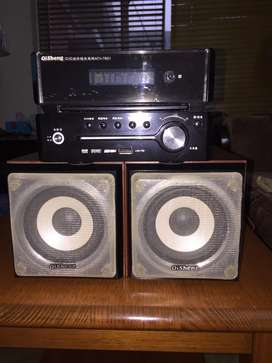 DVD player and Speakers