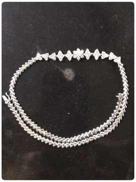 Kalung berlian asli bersertifikat