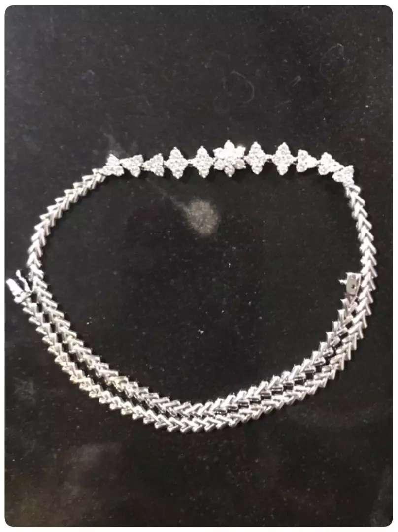 Kalung berlian asli bersertifikat 0