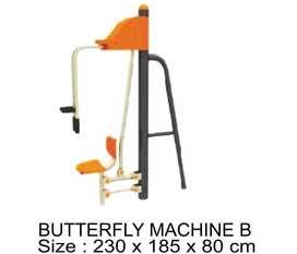 JUAL PRODUK OUTDOOR FITNES TERMURAH - BUTTERFLY MACHINE B