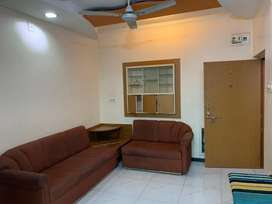 Its prime location furnished apartment on rent at gurukul road