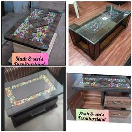 New tea table of glass teapoy at best dhamaka sale