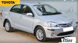 Toyota Etios V model 2011 low miles