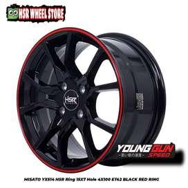 Velg ring 15 HSR Wheel buat mobil Brio Agya Sigra Mobilio Yaris Vios
